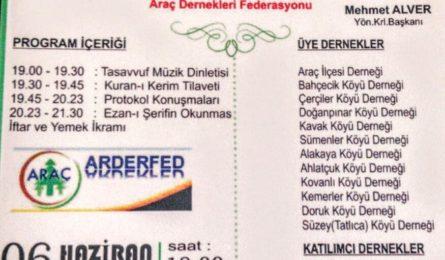 KASTAMONU ARAÇ DERNEKLER FEDERASYONU RAMAZAN BEREKETİNİ ARAÇ'A TAŞIYOR