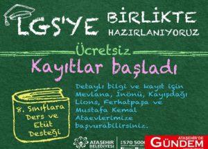 Ataşehir Belediyesi LGS'ye Hazırlanan Gençlere Destek Veriyor